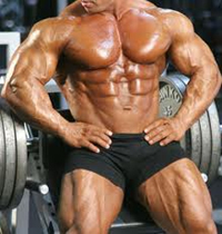 Male physique after anabolic steroid use